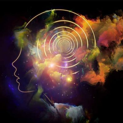 Activate Your Sleep Genius - This image is an artist's interpretation of ideas swirling in the brain, getting integrated deeper.